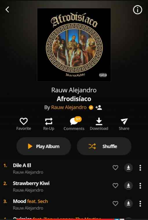 Download from audiomack app