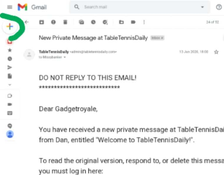 how do you attach an email in Gmail