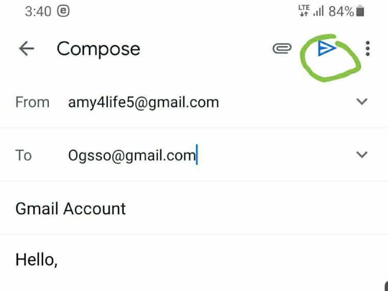 Send file on Gmail