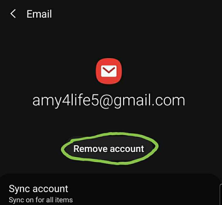 Samsung email app