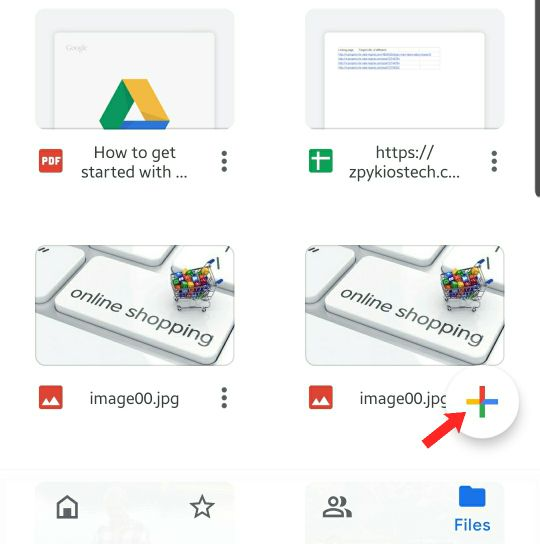android google drive location