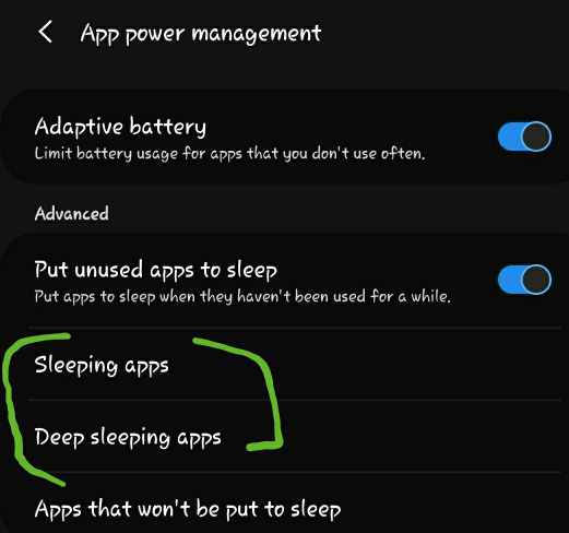 how to put apps to sleep