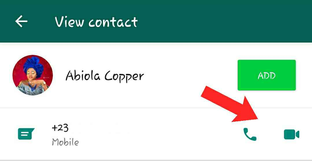 How to call someone on WhatsApp not in contacts