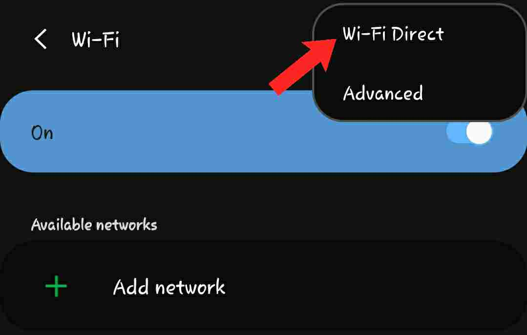 can wifi direct share internet
