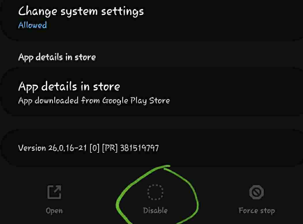 if you disable an app can you enable it again