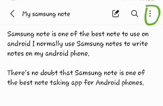How to share samsung notes