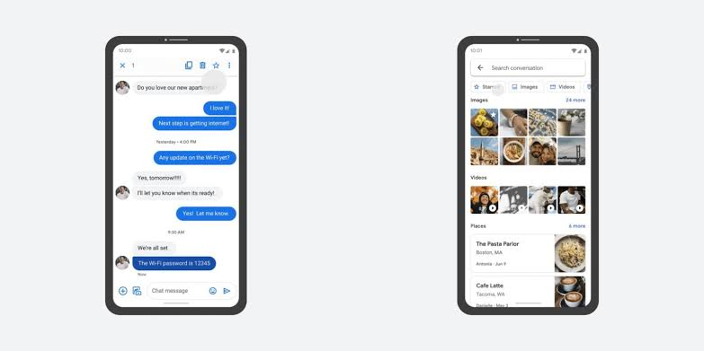 Samsung chat messages