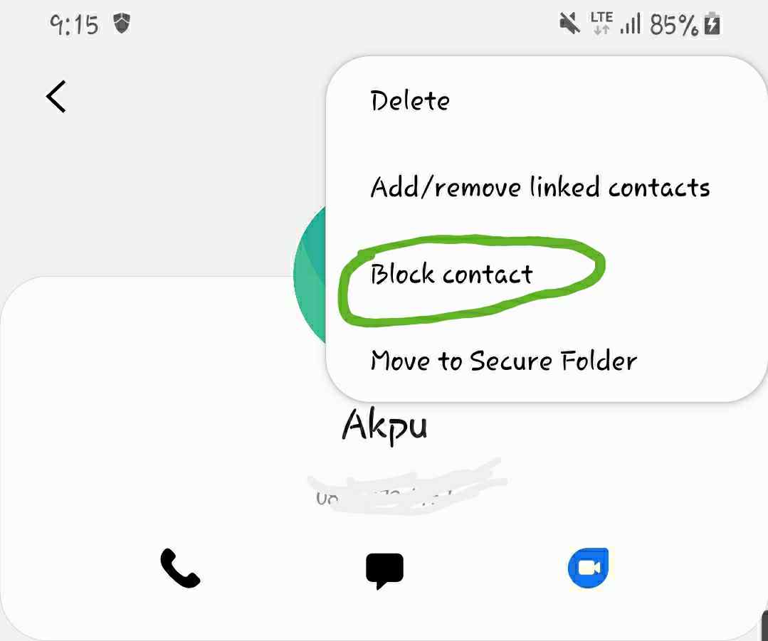 what does auto reject call mean