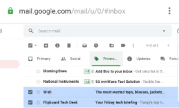 how to delete all emails at once on gmail