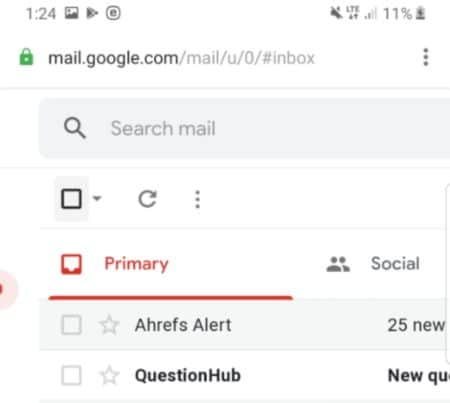 to delete gmail emails in bulk on android