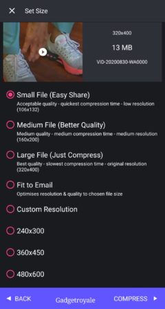 file compressor for android