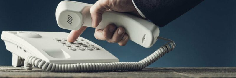 outgoing call rings once then disconnects